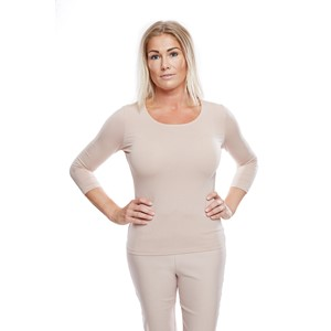 Ladies Soft 3/4 Sleeve Dusty Pink L