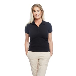 Ladies Polo Shirt Black XL