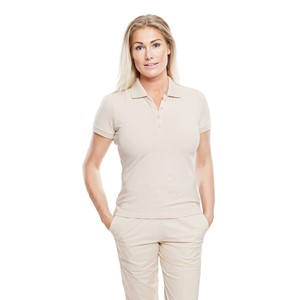 Ladies Polo Shirt Dusty Pink L