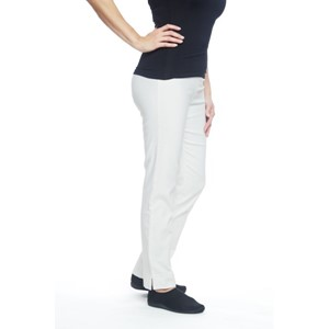 Ladies Straight Pants Natural White XL