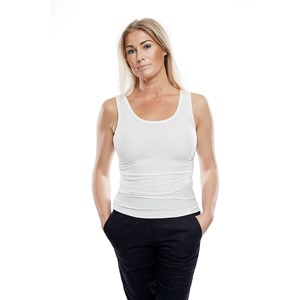 Ladies Soft Tank Top Natural White L