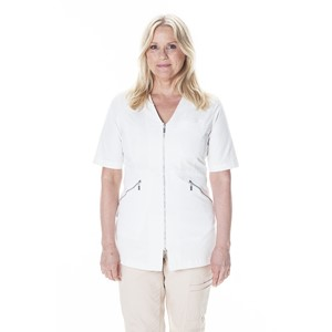 Zip Top Half Sleeve Natural White S
