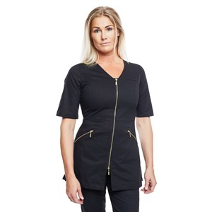 Zip Top Half Sleeve Black L