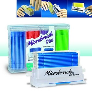 Microbrush Plus Dispenser Superfin vit 100st