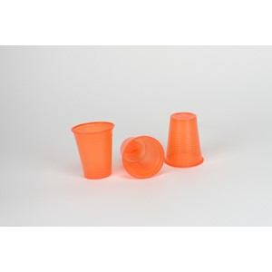 Plastbägare D-Touch Orange 180ml 3000st